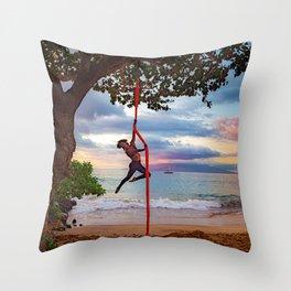The Aloha Spirit of Hawaii Throw Pillow