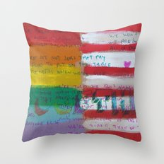 Flags For The Future 4: Power To The People Throw Pillow