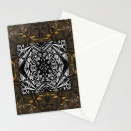no. 311 brown gray black Stationery Cards