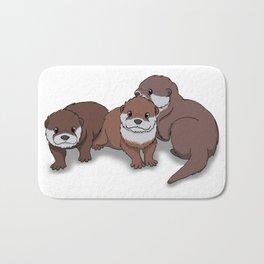 Romp of Baby Otters Bath Mat