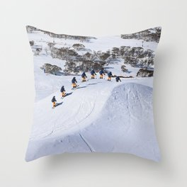 Ski Cross Throw Pillow