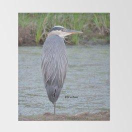 Blue Heron at Hillsboro Pond Throw Blanket