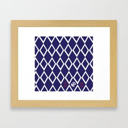 Diamond Anchor Personalized Print Framed Art Print