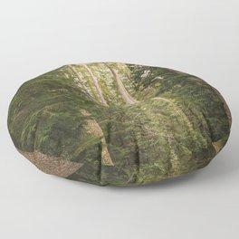 Redwood Forest Black Bear Adventure - National Parks Nature Photography Floor Pillow