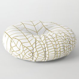 ART DECO IN WHITE Floor Pillow