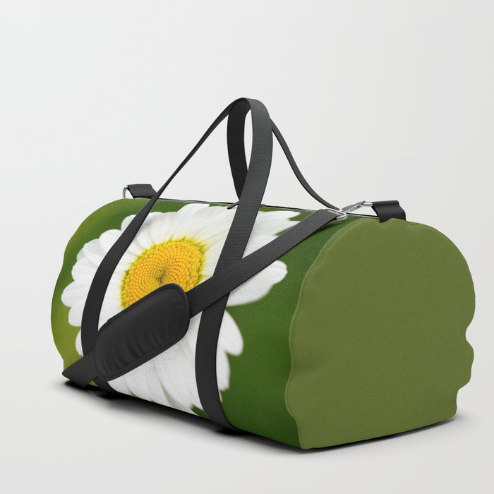 Beautiful Daisy Natural Green Background #decor #society6 #buyart Duffle Bag