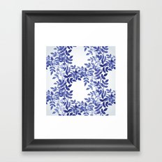 Delicate watercolor pattern with leaves Framed Art Print