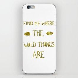 Wild Things - Gold iPhone Skin
