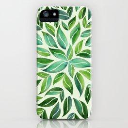 Spring Leaf Mandala iPhone Case