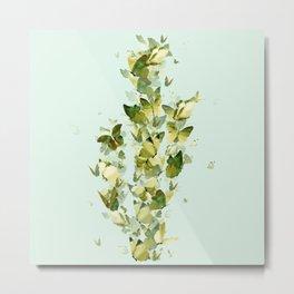 Butterfly Cactu Metal Print