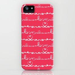 Love me tight Valentines iPhone Case