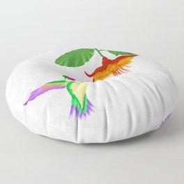 Fantasy Hummingbird #1 Floor Pillow