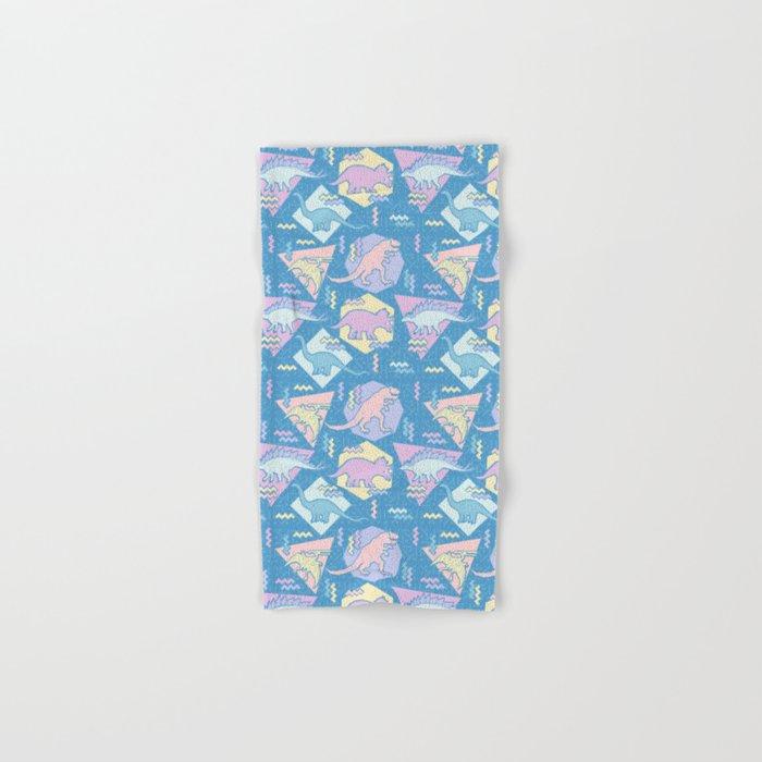 Nineties Dinosaurs Pattern  - Pastel version Hand & Bath Towel