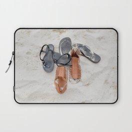 Flip flops on sandy beach Laptop Sleeve