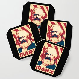Karl Marx Retro Propaganda Coaster