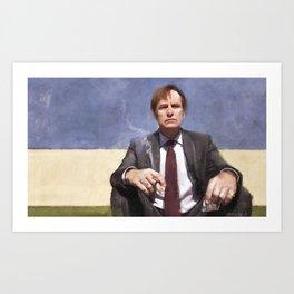 Jimmy McGill Smokes A Cigarette - Better Call Saul Art Print