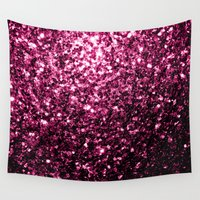 sparkles Wall Tapestries featuring Beautiful Pink glitter sparkles by PLdesign