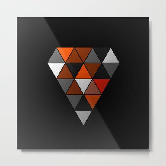 Metallic Diamond Metal Print