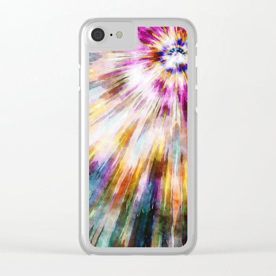 Vintage Tie Dye Clear iPhone Case