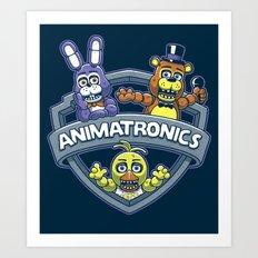 Animatronic Maniacs Art Print
