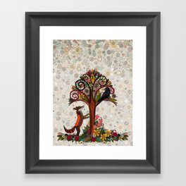 fox and crow Framed Art Print