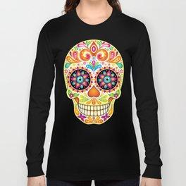 Día de Muertos Sugar Skull (Fiesta) Long Sleeve T-shirt