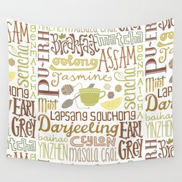 Teapography Wall Tapestry
