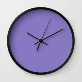 Ube - solid color Wall Clock