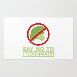 Say No To Broccoli Vegetables Meat Lover Rug