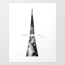 Kuro Noir tower Art Print