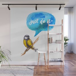 Just Do It - Motivational Bird Wall Mural