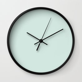 Aqua Glass Wall Clock