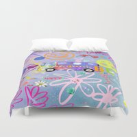 60s Duvet Covers featuring Summer of Love - the 60s by MehrFarbeimLeben