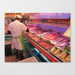 Chinatown Fish Market - ( Lunar New Year in New York City: 2010 ) Canvas Print