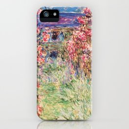 """Claude Monet """"House among the Roses"""", 1917 - 1919 iPhone Case"""
