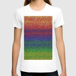Rainbow Knit Photo T-shirt