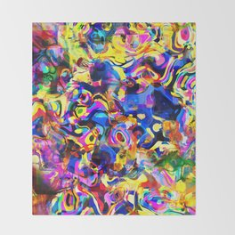Abstract Mess Throw Blanket