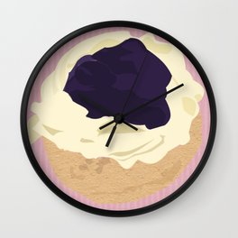 Blueberry Cream Puff Wall Clock