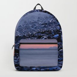 """""""Shiny rocks"""" At pink sunset. Spain, Gibraltar and Africa in one photo. Backpack"""