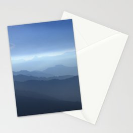 Blue dreams II. Misty mountains Stationery Cards