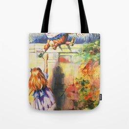 Alice Meeting Humpty Dealer Tote Bag