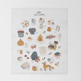 Hello Autumn Throw Blanket