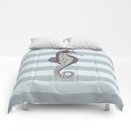AFE Grey Nautical Seahorse Comforters