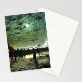 John Atkinson Grimshaw In Peril Stationery Cards