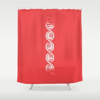 dna Shower Curtains featuring Musical DNA by John Tibbott