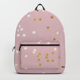 Pink and Gold Stars Backpack