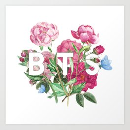 BTS Flowers Art Print