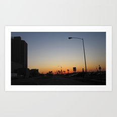 Sunset by The Strand Art Print