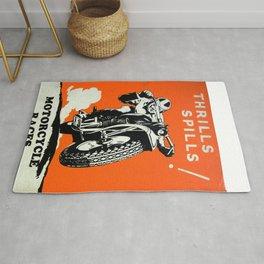 Motorcycle Races - Vintage Poster Rug