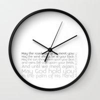 irish Wall Clocks featuring Irish Blessing by this is team kismet